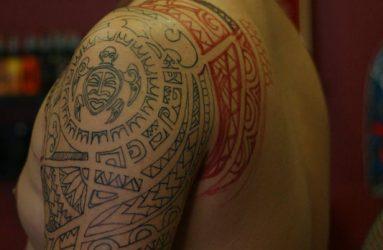 Salih-maori-arm-tattoo
