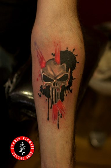 punisher-tattoo-dövme