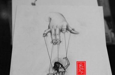 puppet-tattoo-kukla dövmesi -hand tattoo el dövmesi kukla oynatan el dövmesi