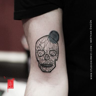 skull-tattoo-geometric-skull-tattoo-line-work