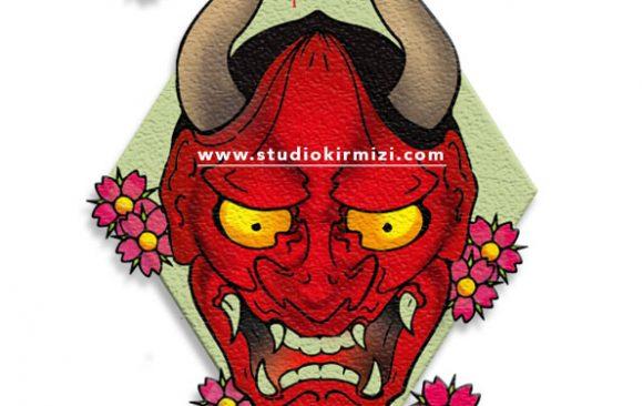tattoo-Flash-hannya-mask