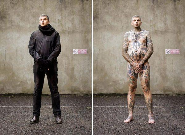 Dovmeli insanlarin giyinik ve ciplak halleri 8