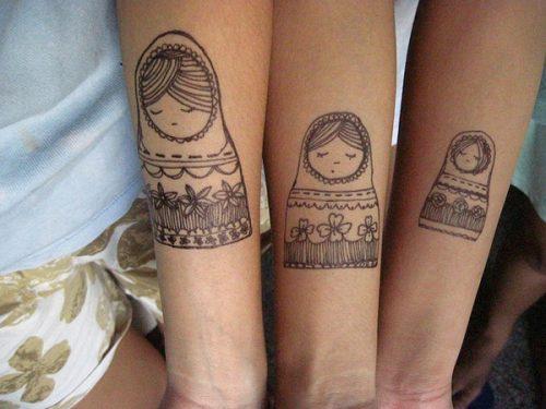 kiz kardes dovme modelleri sister tattoo idea9