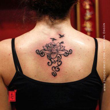 lotus-dovme-lotus-tattoo-flower-tattoo-taksim-tattoo-istanbul-dovme