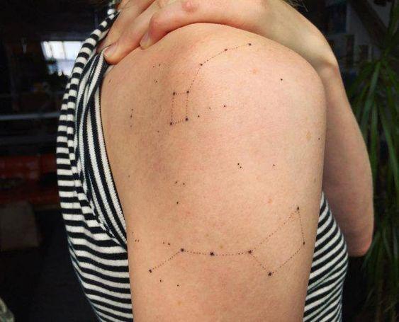 minimal omuz dövme modelleri kuyruklu yıldız dövmeleri