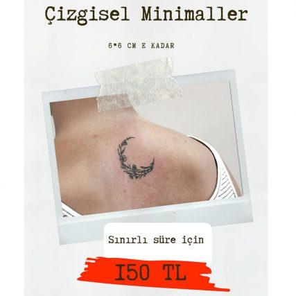 çizgisel Minimal dövme fiyatları
