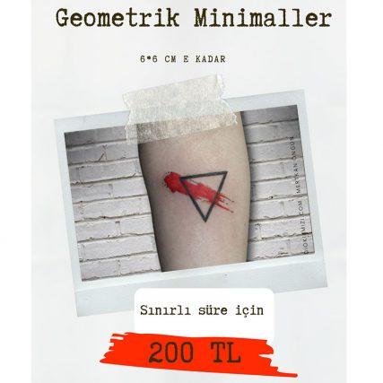 geometrik minimal dövme fiyatları