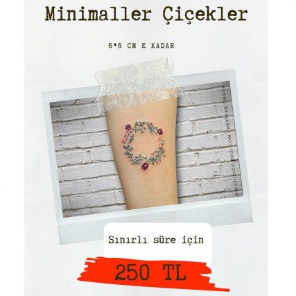 minimal çiçek dövme fiyatları
