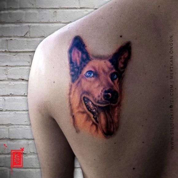 Köpek PortresiDövmesi