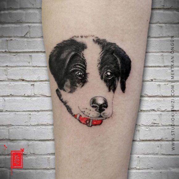 Minimal Köpek Dövmesi