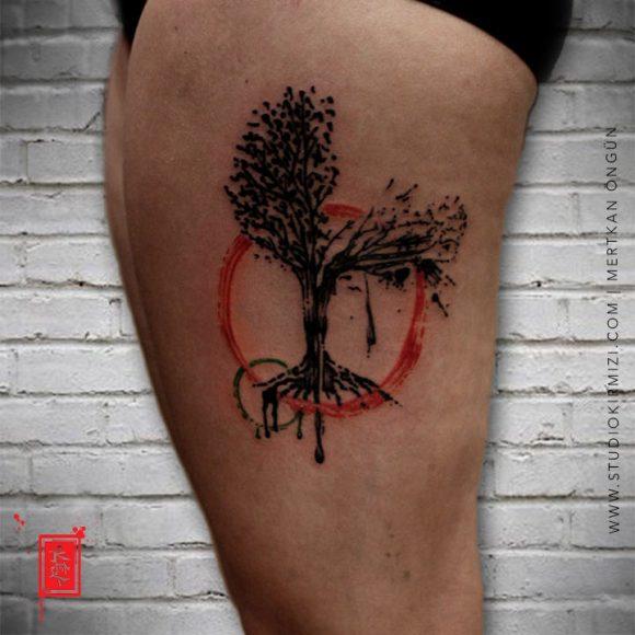 Sulubıoya Ağaç Dövmesi