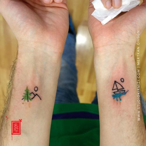 minimal-dovme-minimal-suluboya-dovme-watercolor-tattoo