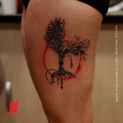suluboya-dovme-watercolor-tattoo-tree-tattoo-agac-dovmesi