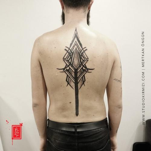 tribal-tattoo-geometric-maori-dovme-tattoo